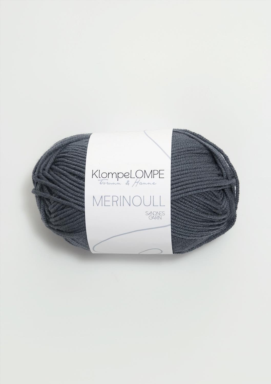 KLOMPELOMPE MERINOULL Mørk Gråblå 6061