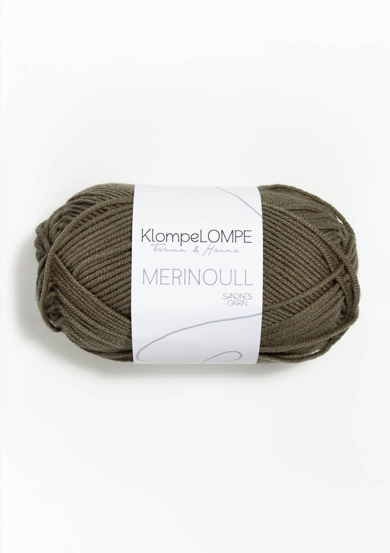 KLOMPELOMPE MERINOULL Lys Støva Oliven 9851