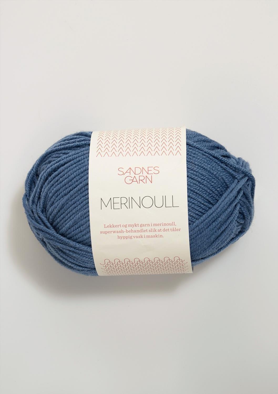 MERINOULL Jeansblå 6052