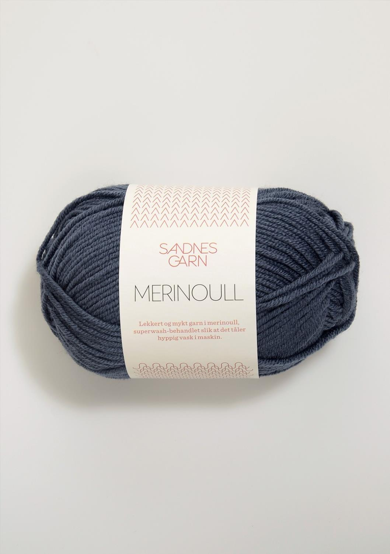 MERINOULL Gråblå 6071