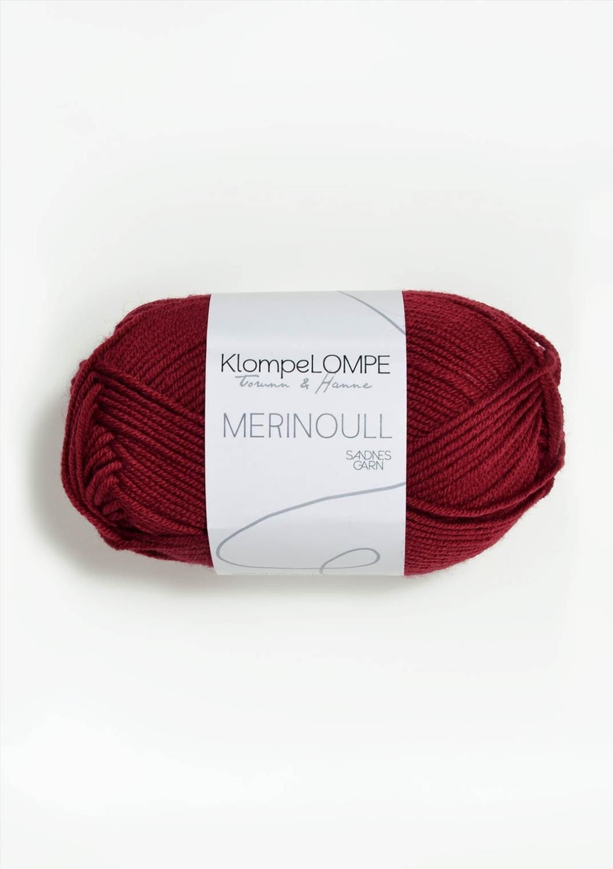 KLOMPELOMPE MERINOULL Dyp Julerød 4236