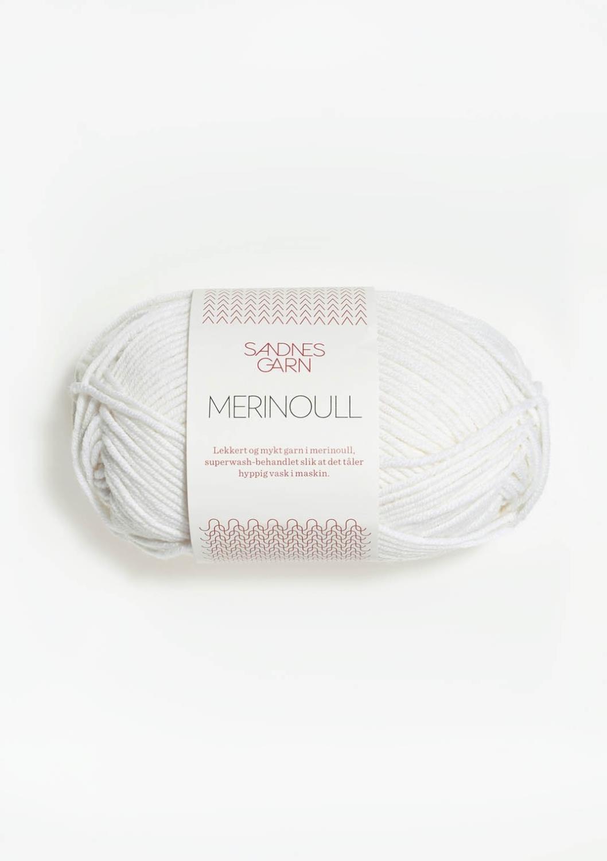 MERINOULL Optisk Hvit 1001