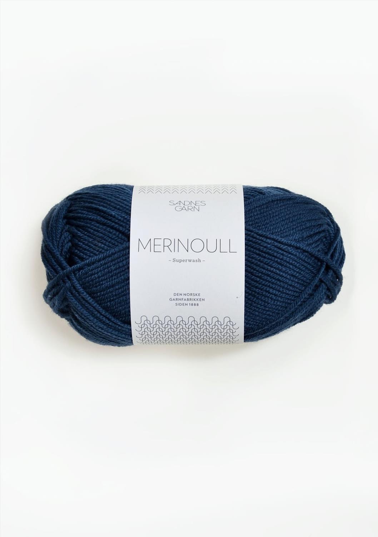 MERINOULL Mørk Blå 6062
