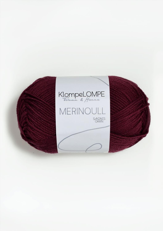 KLOMPELOMPE MERINOULL Mørk Rustrosa 4554