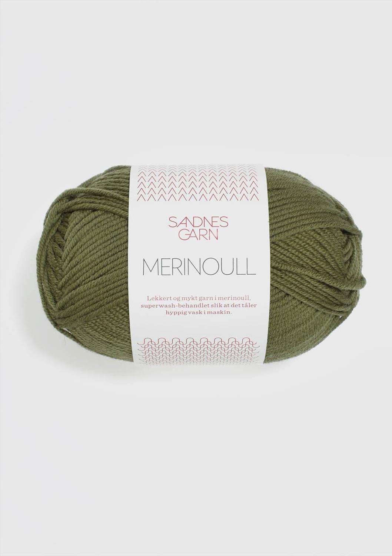 MERINOULL Olivengrønn 9364