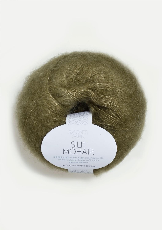 SILK/MOHAIR Mosegrønn 9554