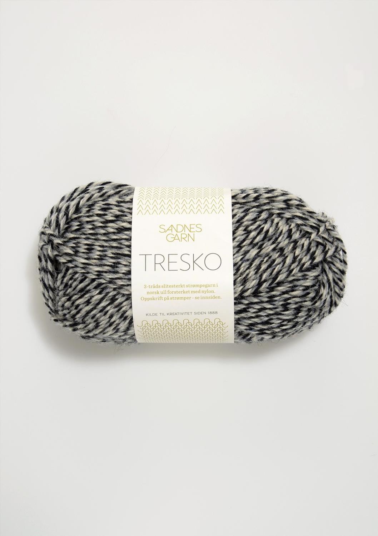 TRESKO Grå/Hvit/Svart 6081