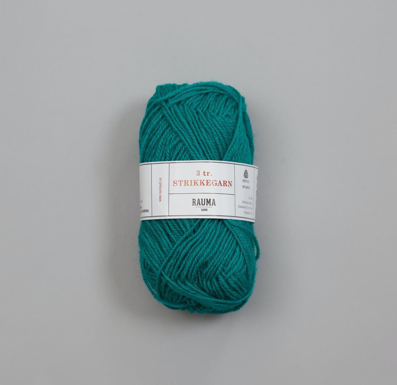 3-TRÅDS STRIKKEGARN Sjøgrønn 175