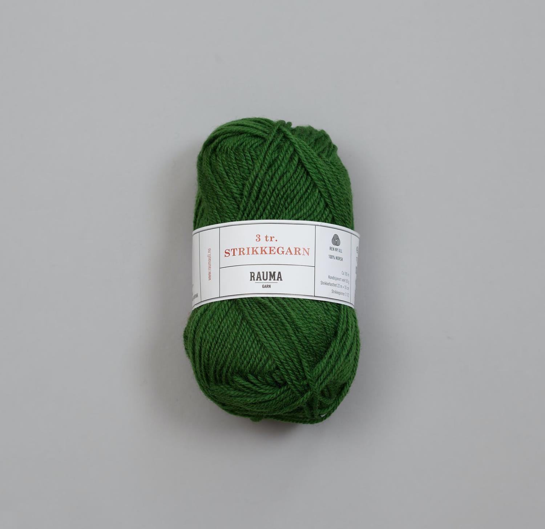 3-TRÅDS STRIKKEGARN Grønn 145