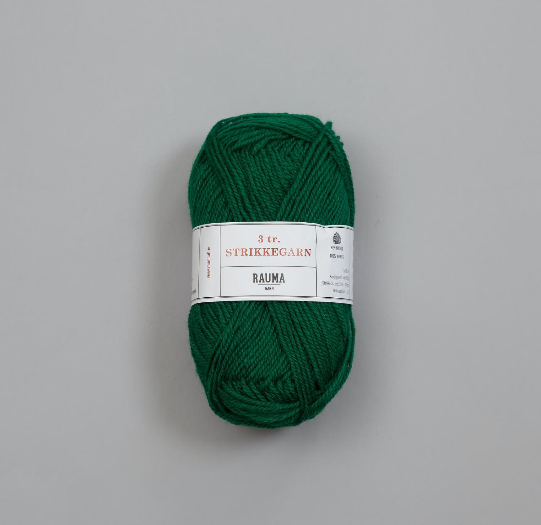 3-TRÅDS STRIKKEGARN Mørk Grønn 130