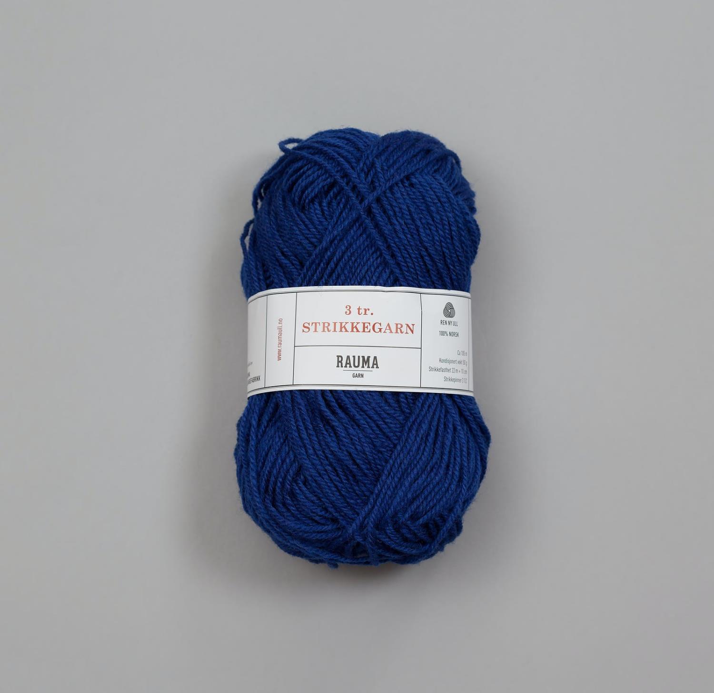 3-TRÅDS STRIKKEGARN Mørk Jeansblå 143