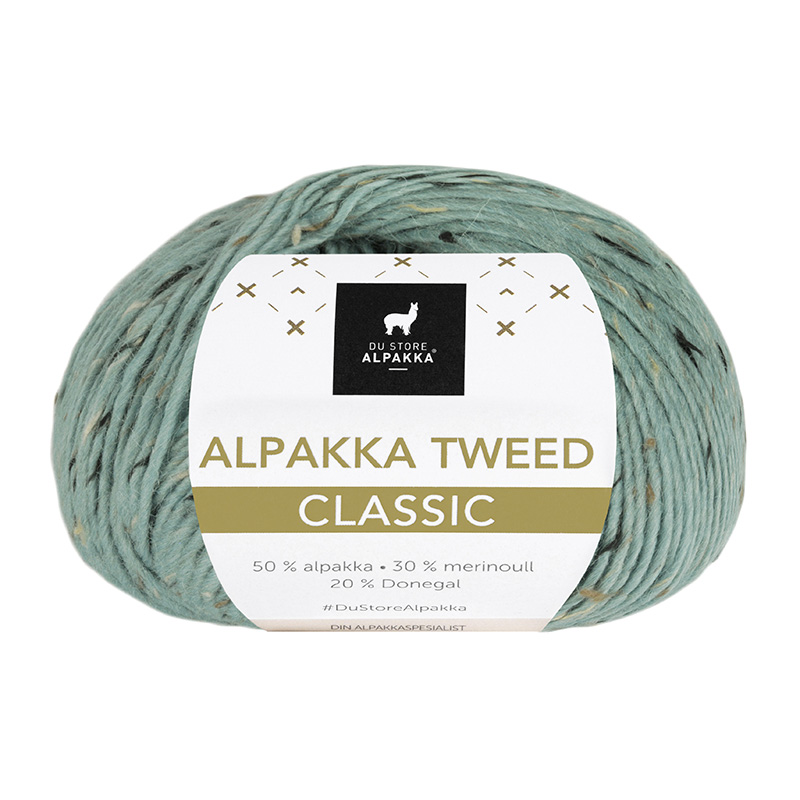 ALPAKKA TWEED CLASSIC Lys Sjøgrønn 124