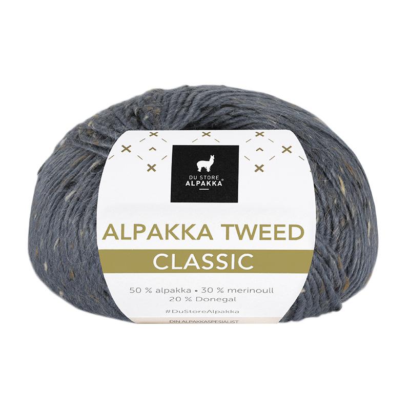 ALPAKKA TWEED CLASSIC Mørk Gråblå 129