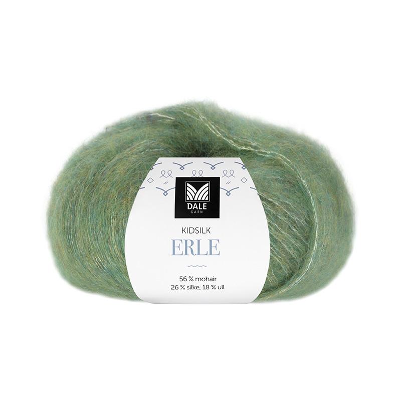 KIDSILK ERLE Grønn Melert 9053