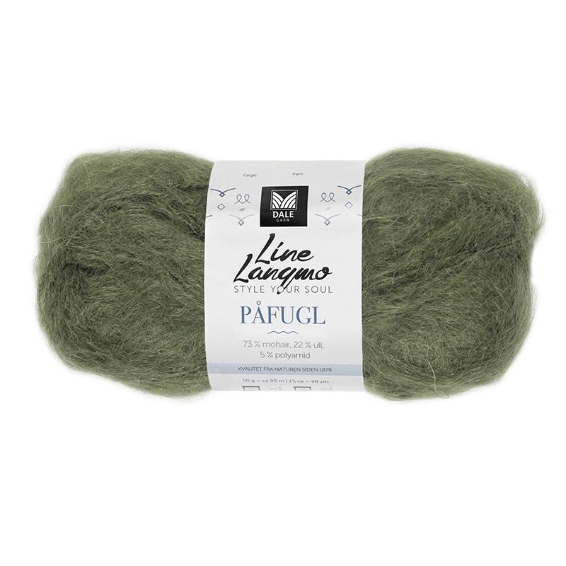 PÅFUGL MOHAIR Armygrønn 7920