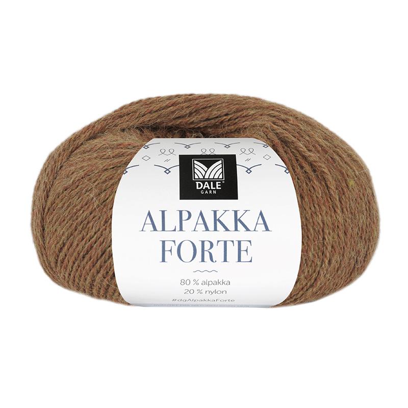 ALPAKKA FORTE Gul/Rød Melert 728