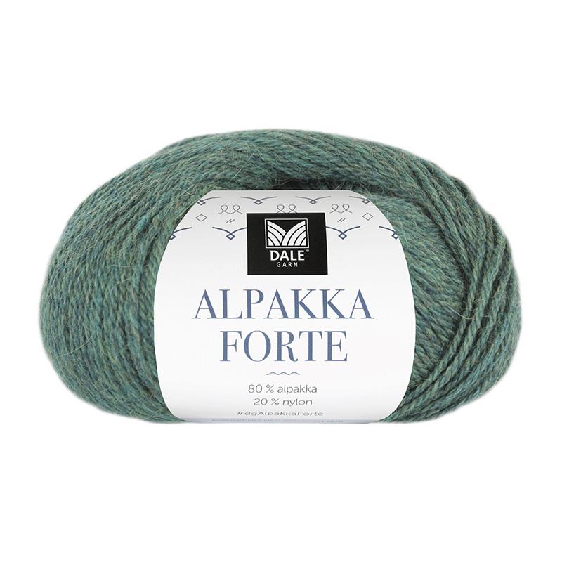 ALPAKKA FORTE Grønn/Blå Melert 732