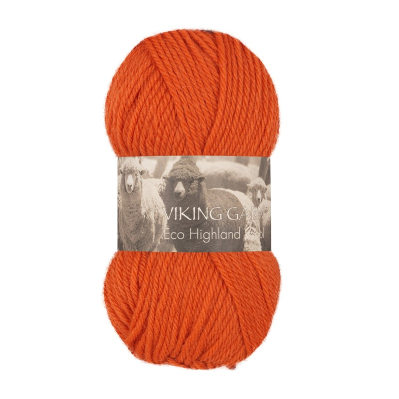 ECO HIGHLAND WOOL Oransje 251