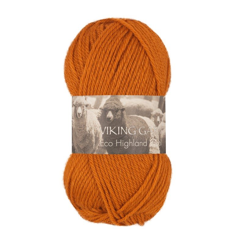 ECO HIGHLAND WOOL Mørk Oransje 244