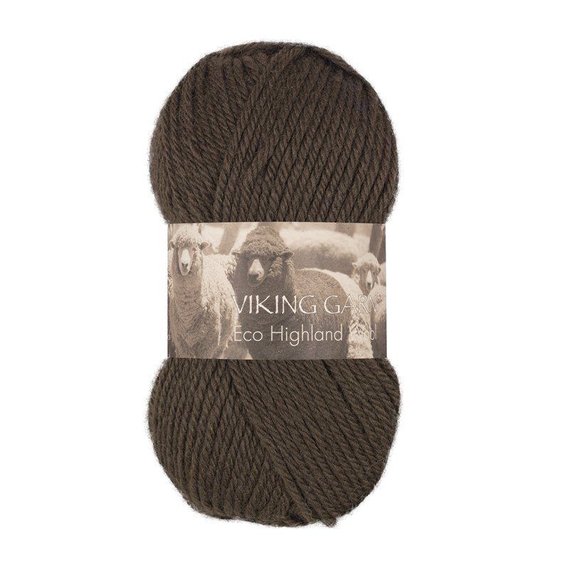 ECO HIGHLAND WOOL Mørk Brun 218