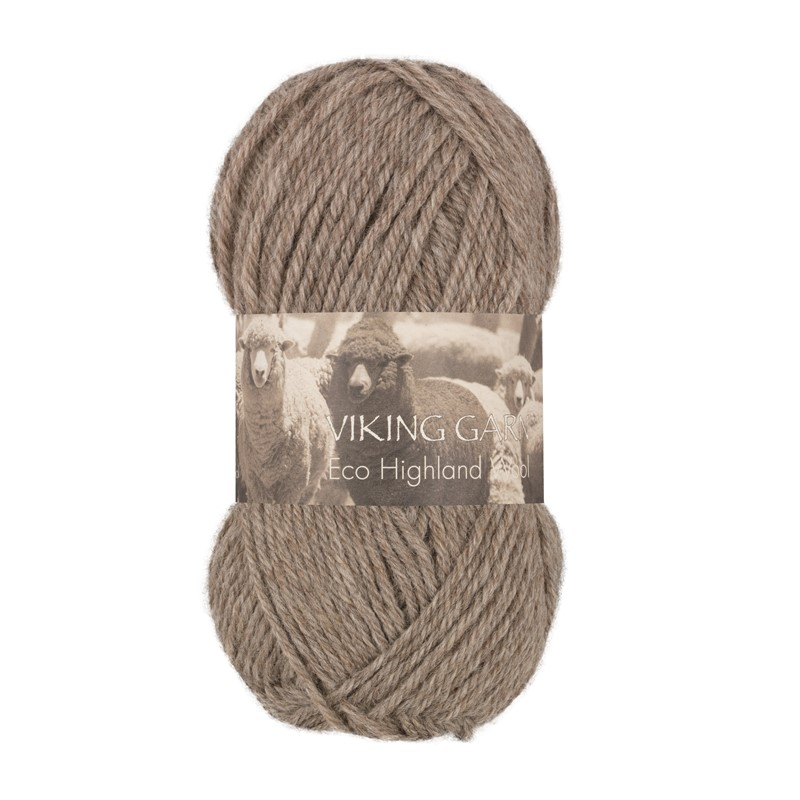 ECO HIGHLAND WOOL Melert Lys Brun 209