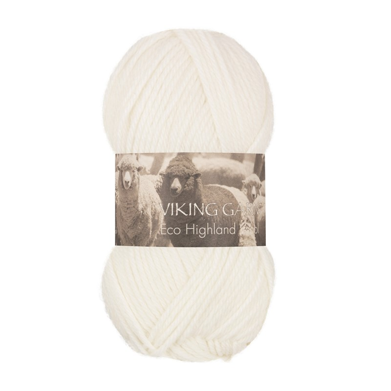 ECO HIGHLAND WOOL Hvit 200