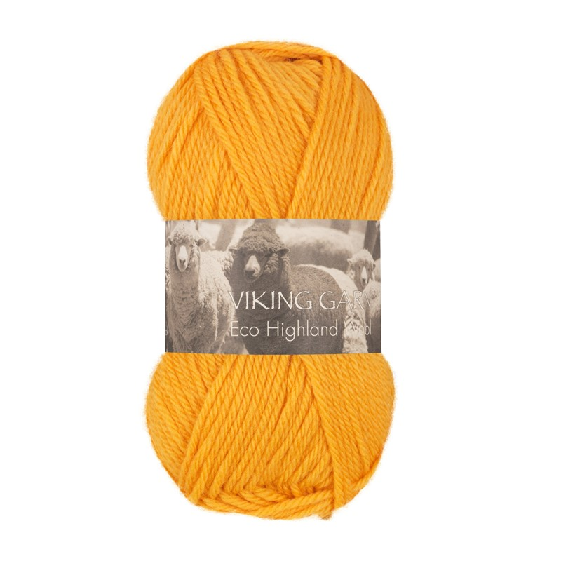 ECO HIGHLAND WOOL Gul 245
