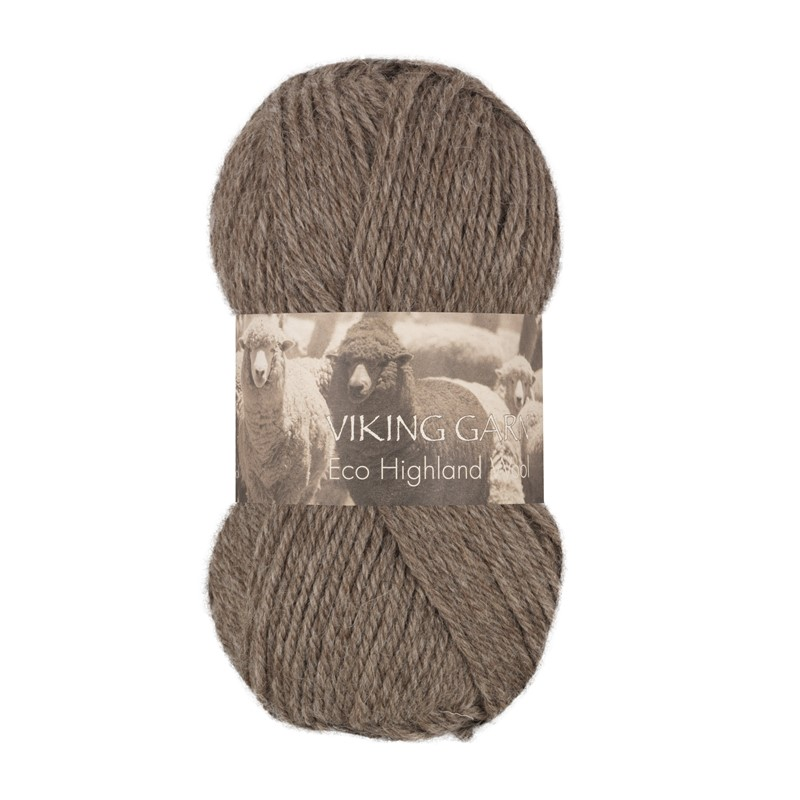 ECO HIGHLAND WOOL Brun 208
