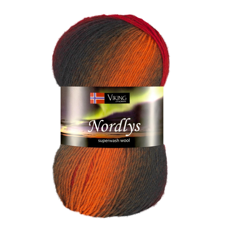 NORDLYS Oransje/Rød/Gråtoner 955