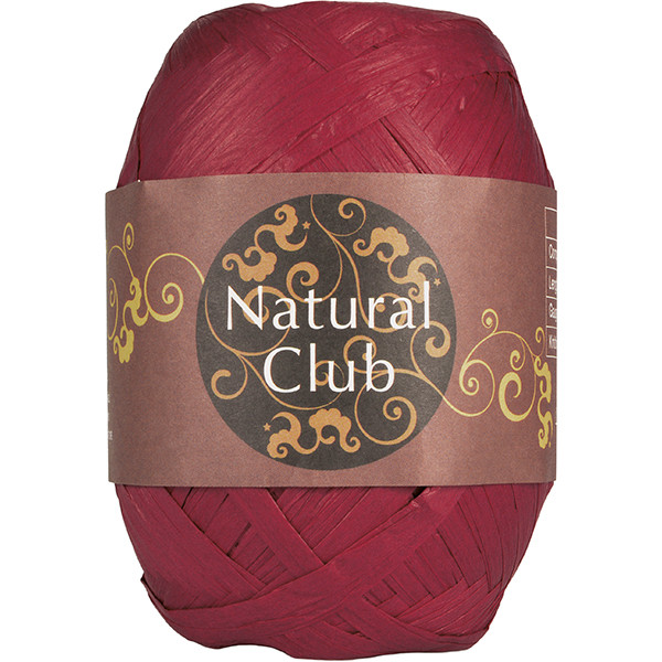 NATURAL CLUB RAFFIA Mørk Gammelrosa #19