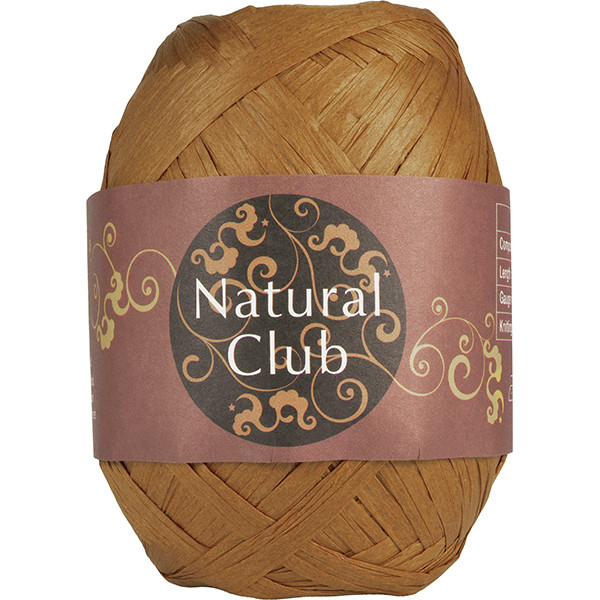 NATURAL CLUB RAFFIA Mørk Sand #43