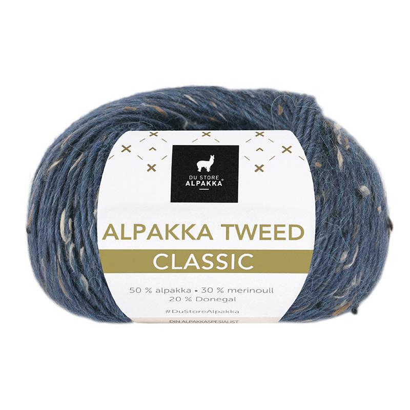 ALPAKKA TWEED CLASSIC Mørk Blå 133