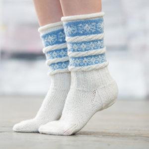 Snøfnugg sokker