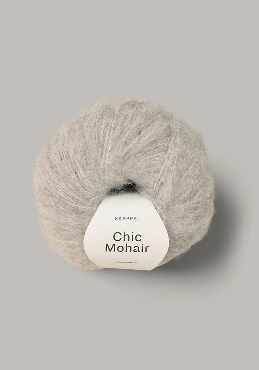 CHIC MOHAIR Gråmelert 508