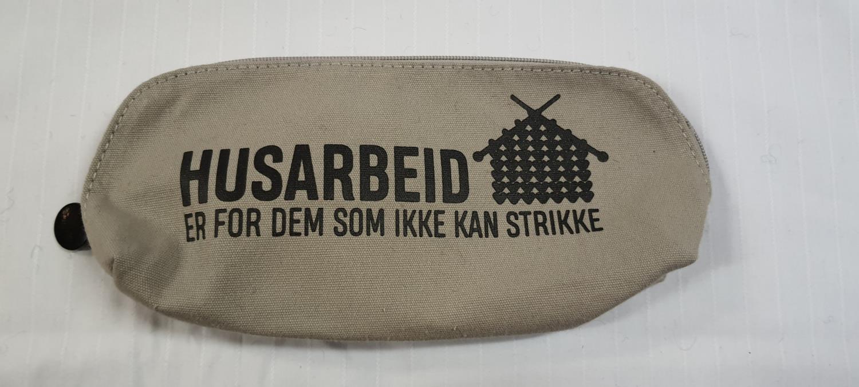 STRIKKEVESKE M Lysgrå 9780
