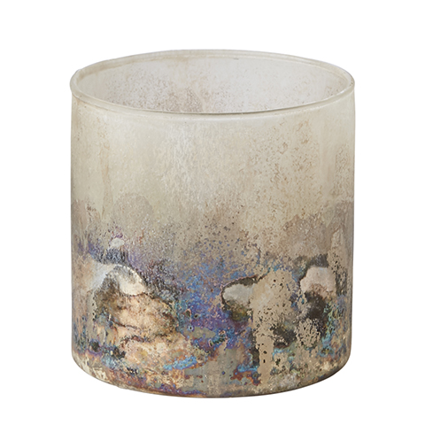 Affari Stina Telysholder i glass S hvitbrun
