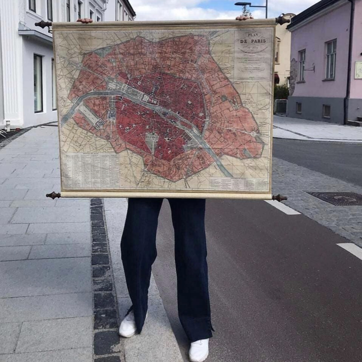 Affari Veggdekor Paris Kart