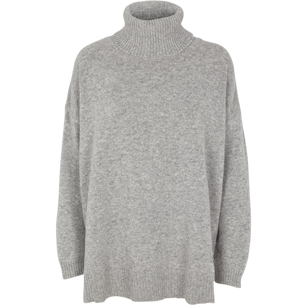 Basic Apparel Line T-neck Lys grå