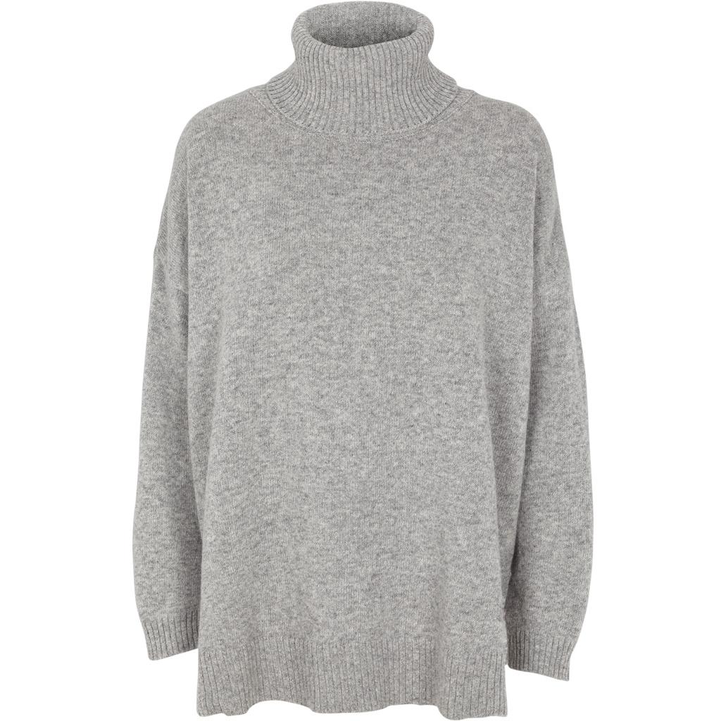 Basic Apparel Line T-neck Lys grå