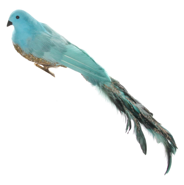 ShiShi Fugl Turkis Sølv 39cm