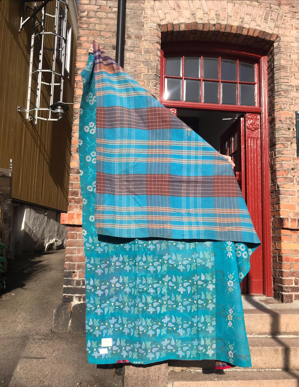 Sissel Edelbo Cotton Sari Vintage Blanket Turkis