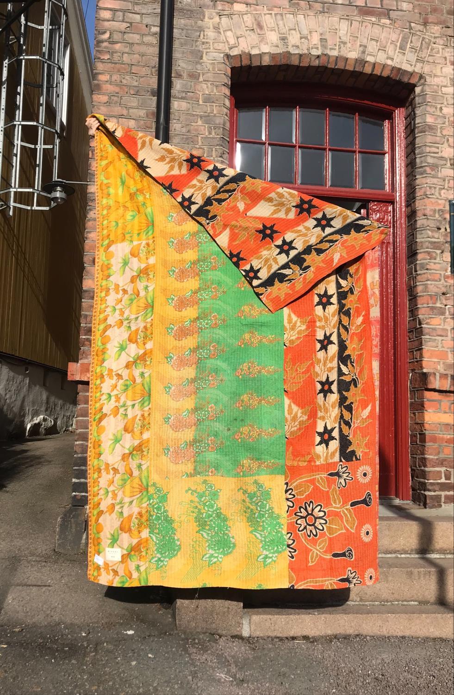 Sissel Edelbo Cotton Sari Vintage Blanket Gul/Orange