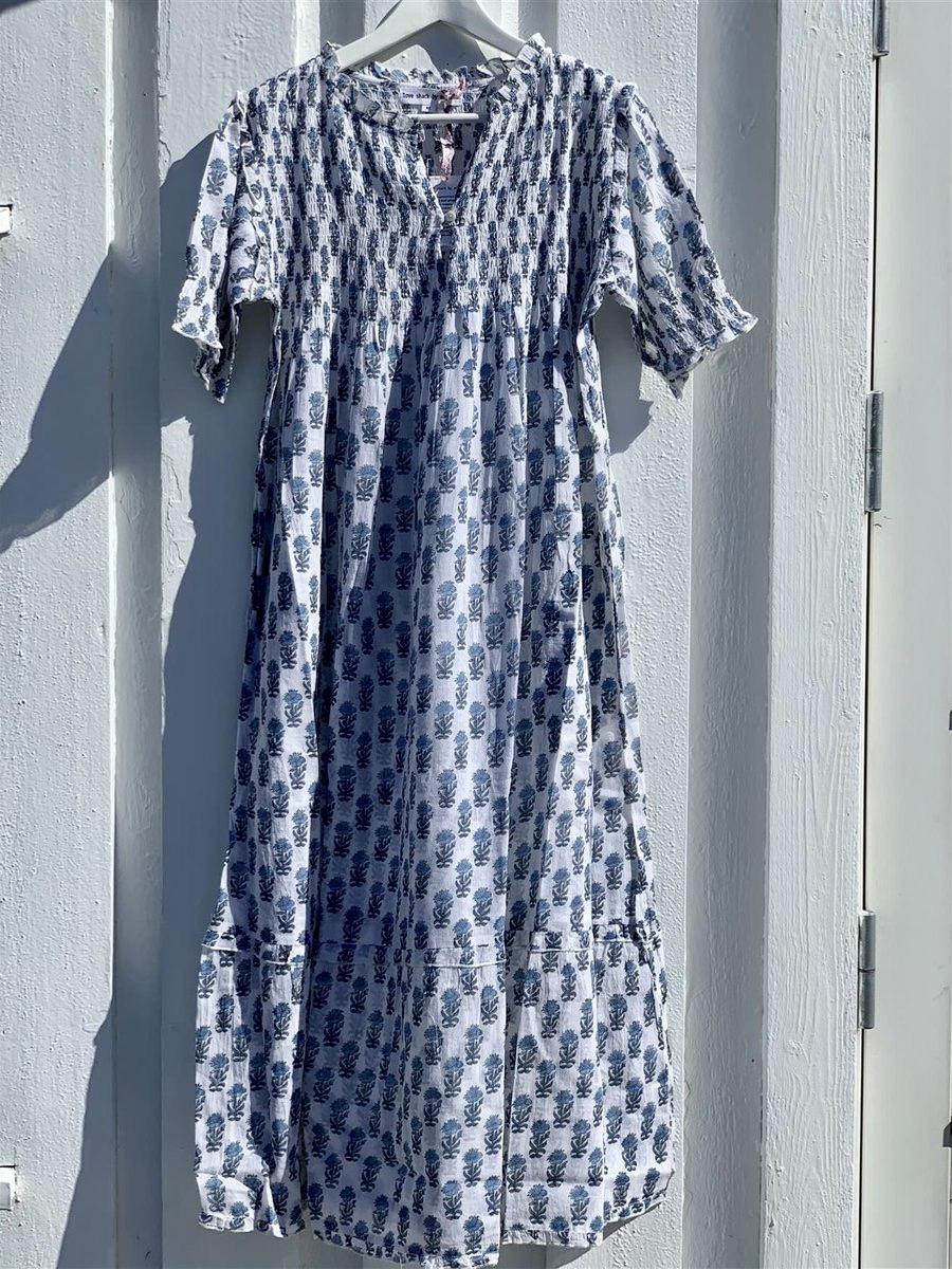 Anouska Crocus Long Dress Blue