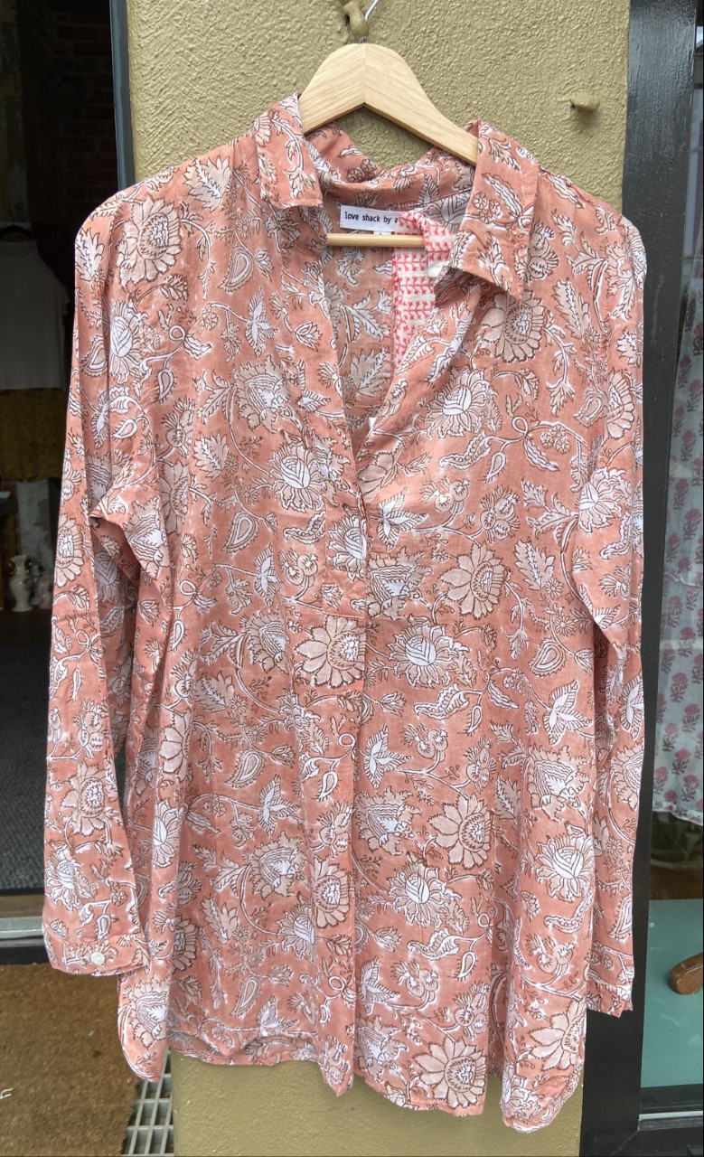 Anouska Vintage Rose Bluse