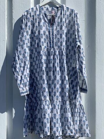 Anouska Crocus Short Dress Blå