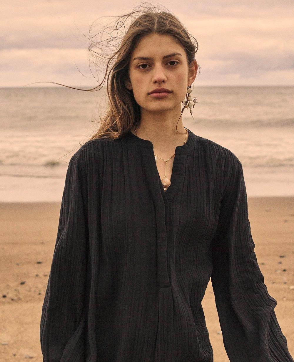 Sissel Edelbo Emily Organic Cotton Shirt Black