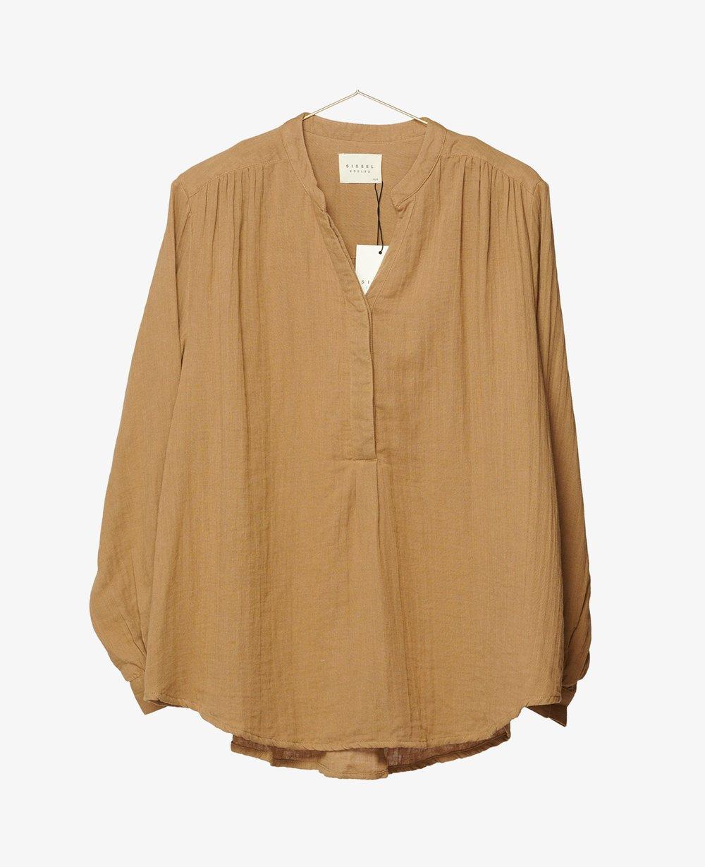 Sissel Edelbo Emily Organic Cotton Shirt Camel