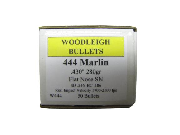 Woodleigh 280 Grains FN SN .444 Marlin kal. (.430), 50 pk.