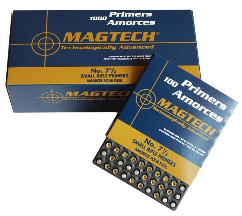 MagTech Small Rifle No. 7 1/2 tennhetter, 100 pakning