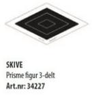 Skive Prisme figur 3-delt